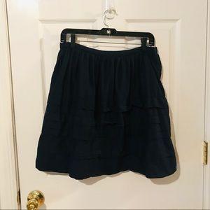 Navy blue Gap ruffled A line skirt